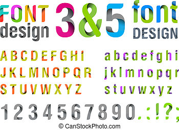 poppig, oberseite, new., font.