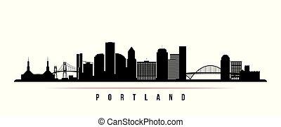 Portland City Skyline horizontales Banner.