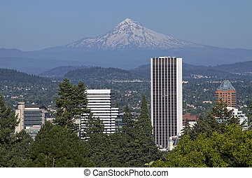 Portland Eregon Skyline und Kapuze