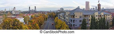 Portland Oregon Skyline an der Gewerkschaftsstation
