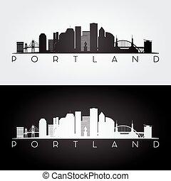 Portland USA Skyline.