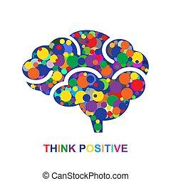 positiv, begriff, denken