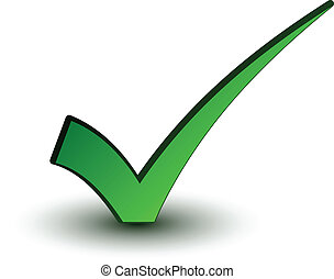 positiv, checkmark, vektor, grün