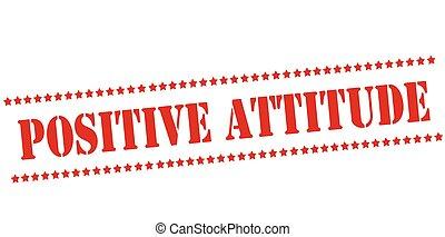 Positive Einstellung.