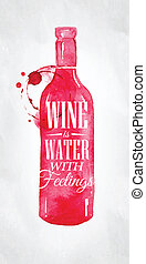 Poster-Wein-Wassergefühle.