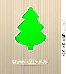 postkarte, fröhlich, vektor, weihnachten, abbildung
