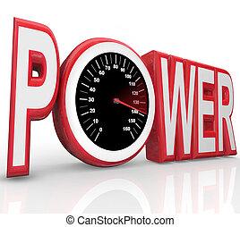 Power-Wort-Renngeschwindigkeitsmesser