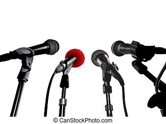 pressekonferenz, (vector)