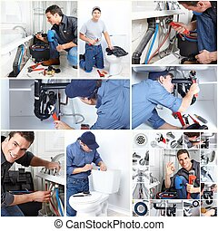 professionell, plumber.