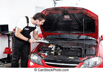 Professioneller Automechaniker.