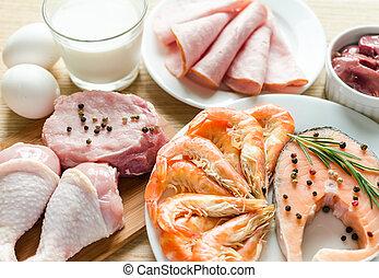 protein, diät, bestandteile