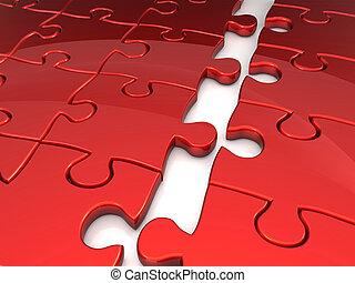 puzzel, begriff, geschaeftswelt, beitritt