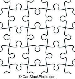 puzzel, stichsaege, seamless