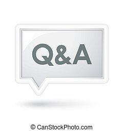 Q und A Worte über eine Sprachblase.
