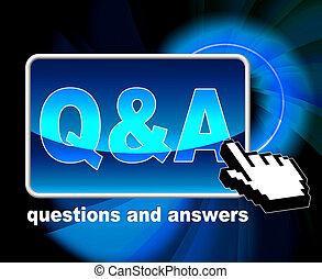 Q und ein Mittel häufig gestellt Fragen und Web.