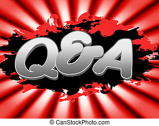 Q und ein Mittel oft gestellt Fragen und Faqs.