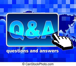Q und eine zeigt Weltweit Web und Netz.