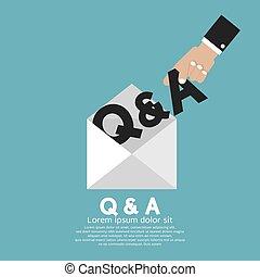 Q&A Brief in Hand Vektorgrafik.