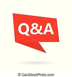 Q&A (Fragen und Antworten) Akronym auf einer Speachblase.