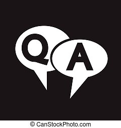 Q&A Symbol ,Anfrage Antwort Icon.