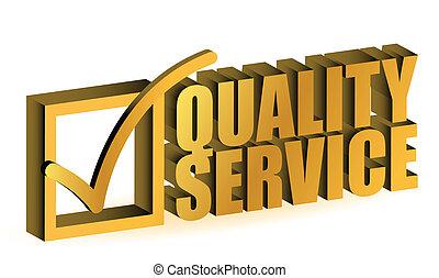 qualität, service