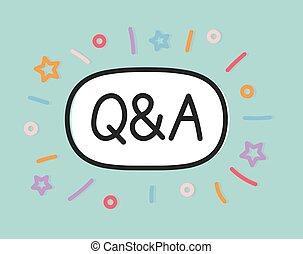 (questions, vektor, answers), abbildung, begriff, -, q&a