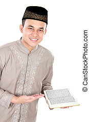 quran, moslem, besitz, mann