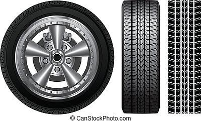 Rad - Reifen und Legierung