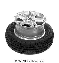 Rad und Reifen für ein Auto.