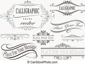 rahmen, calligraphic