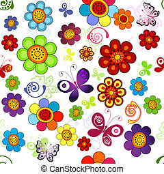 Rainbow-Foral-Material