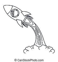 Raketenwerfer isoliert Icon Design.