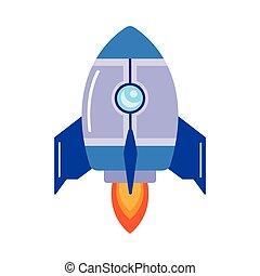 raketenwerfer, start, rakete