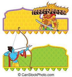 Rama tötet Ravana in Dussehra.