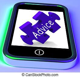 Ratgeber auf Smartphone, der schnelle Führung zeigt