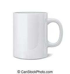 Realistischer, weißer Pokal