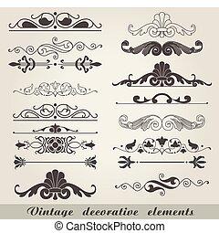 Rebflächen dekorative Elemente