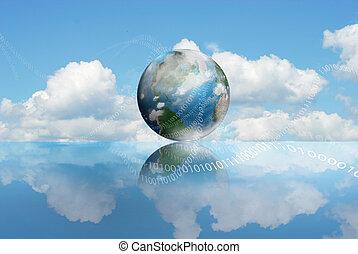 rechnen, wolke, technologie