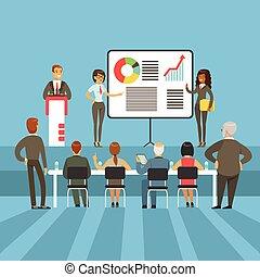 Regelmäßige Geschäftsergebnisse und Leistungspräsentation mit Infomaterial und Grafikkarten mit den Hauptaktionären
