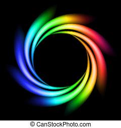 regenbogen, abstrakt, strahl