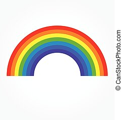 regenbogen, klassisch, breit, einfache , vektor