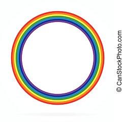 regenbogen, klassisch, ring, einfache , element, vektor