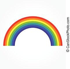 regenbogen, klassisch, vektor, einfache