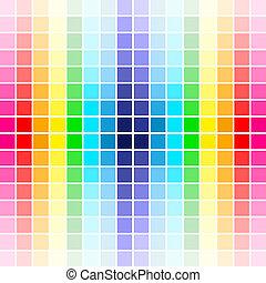 regenbogen, palette, farben