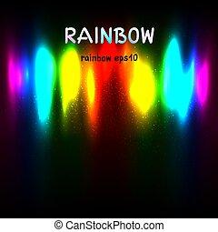 regenbogenfarben, licht, hintergrund, text