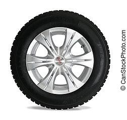 Reifen isoliert auf weiß
