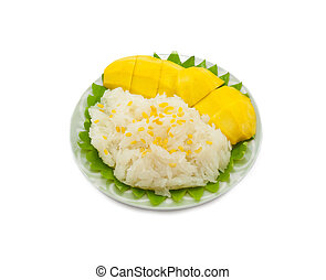 reis, klebrig, mango