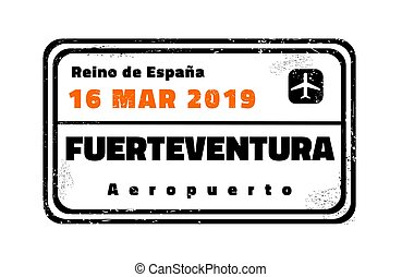 reisepaßbriefmarke, fuerteventura