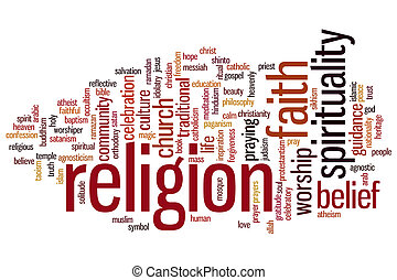religion, wort, wolke