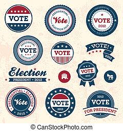 Renovierte Wahlabzeichen